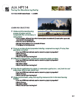 AIA HP114 Learning Objectives