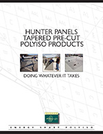 Hunter Pre-cut Tapered Polyiso products - Hinged Target Sump, Target Sump, Hips and Valleys