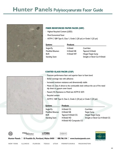 Hunter Panels Polyiso Facers Guide