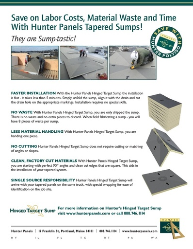 Save on Labor Costs, Material Waste and Time With Hunter Panels Tapered Sumps!