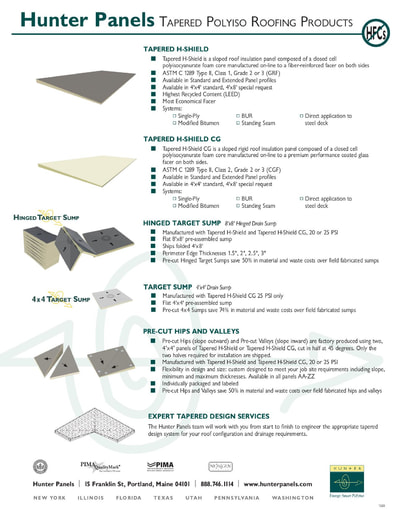 Tapered Polyiso Line Card