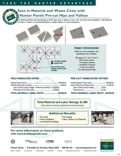 Tapered Pre-cut Polyiso Products Advantage