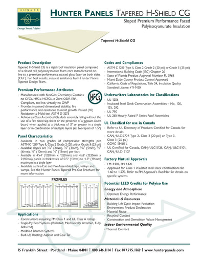 Tapered H-Shield CG Submittal Document