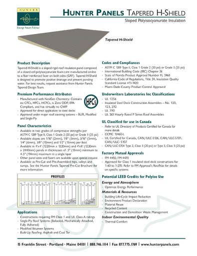 Tapered H-Shield Submittal Document