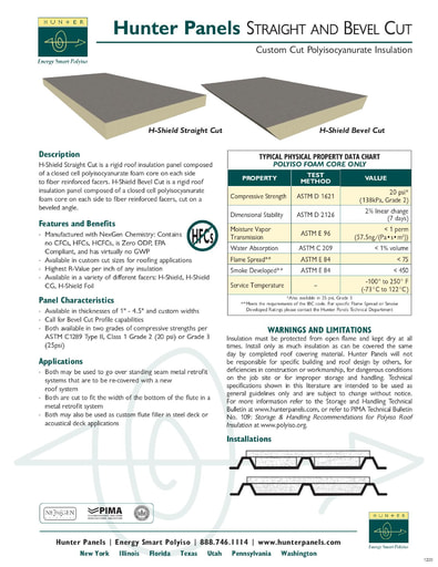 H-Shield Straight & Bevel Advantage Sheet